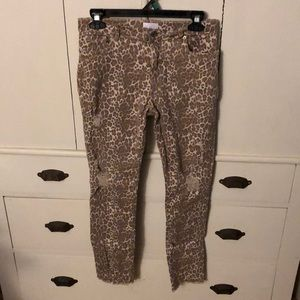 Girls leopard print pants
